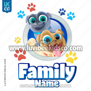 Puppy Dog Pals Iron On Transfer | Add Family Members - LuvibeeKidsCo