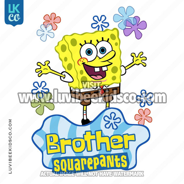 Spongebob Squarepants Iron On Transfer Design - Brother - LuvibeeKidsCo