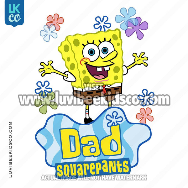 Spongebob Squarepants Iron On Transfer Design - Dad - LuvibeeKidsCo