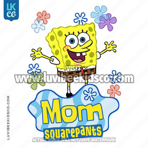 Spongebob Squarepants Iron On Transfer Design - Mom - LuvibeeKidsCo