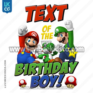 Super Mario Bros Iron On Transfer - Add Family Members - LuvibeeKidsCo