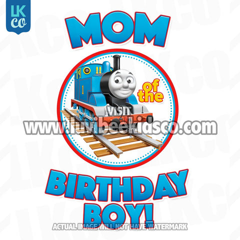 Thomas the Train Iron On Transfer for Birthday Boy - Mom