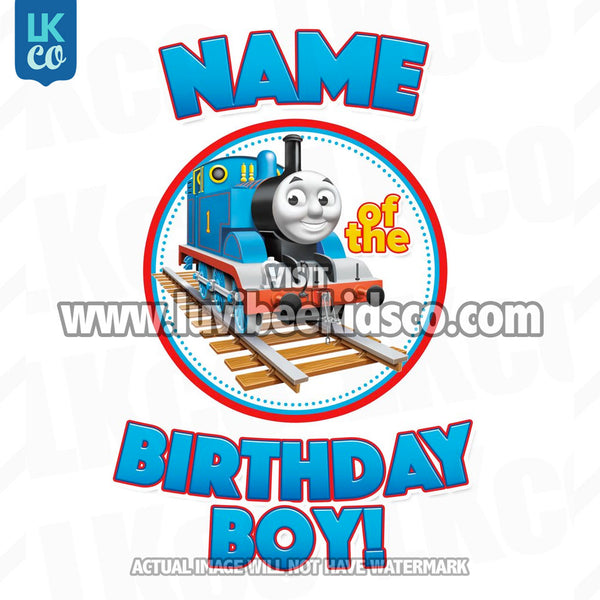Thomas the Train Iron On Transfer - Add a Family Member Name - LuvibeeKidsCo