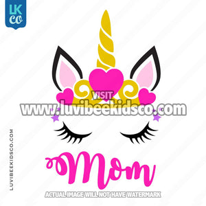 Unicorn Iron On Transfer | Princess - Mom - LuvibeeKidsCo