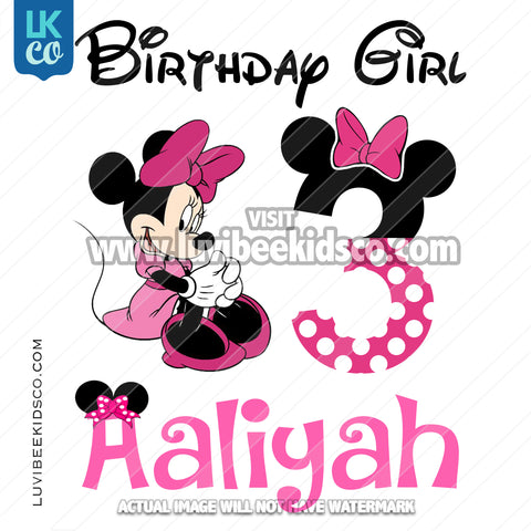 Minnie Mouse Iron On Transfer | Pink Dots & Bow