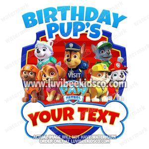 Paw Patrol Iron On Transfer - Bone | Family Members Add-on - LuvibeeKidsCo