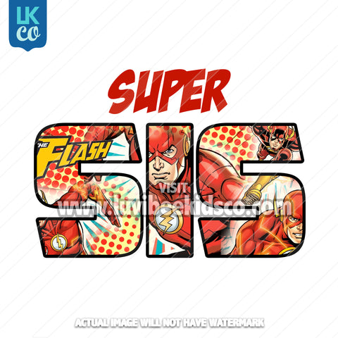 The Flash Iron On Transfer - Super Sis - LuvibeeKidsCo