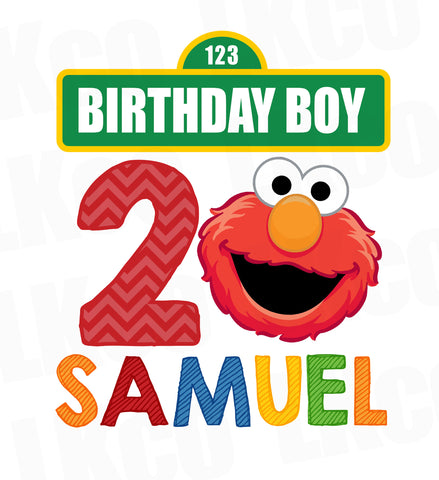 Sesame Street Iron On Birthday Shirt Design | Elmo - LuvibeeKidsCo