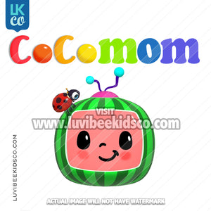 Cocomelon Inspired Heat Transfer Design - Cocomelon TV - Cocomom