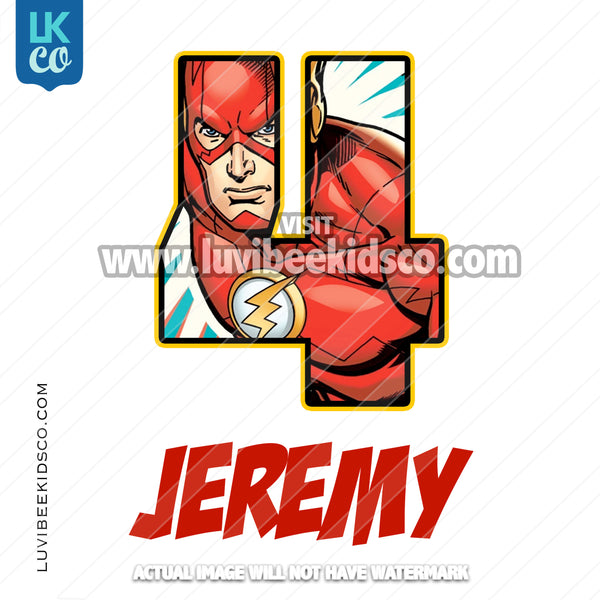 The Flash Heat Transfer Design - Super Birthday - LuvibeeKidsCo