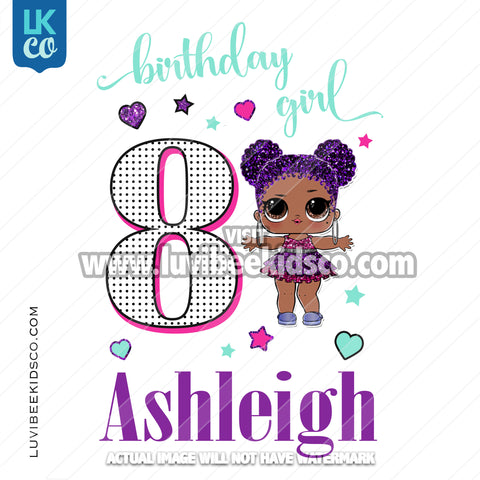 LOL Surprise Iron On Transfer Design | Birthday Girl - Purple Queen Style 2 - LuvibeeKidsCo