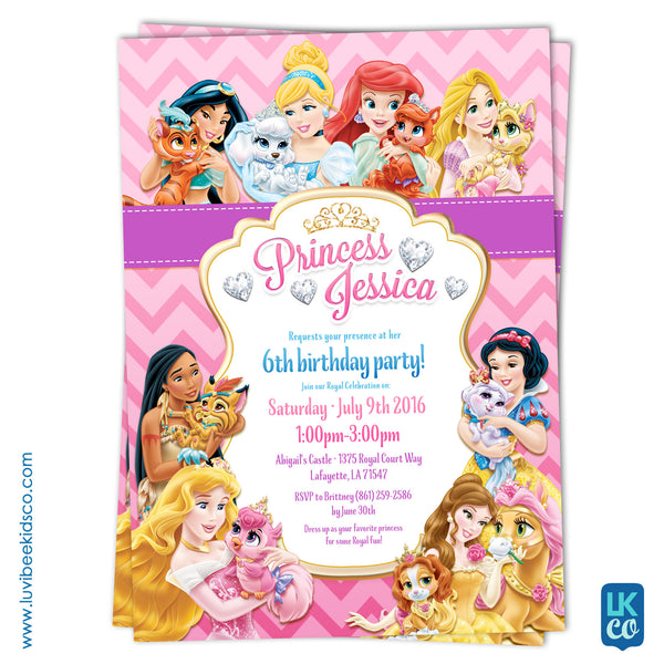 Disney Princess Palace Pets Invitation - LuvibeeKidsCo