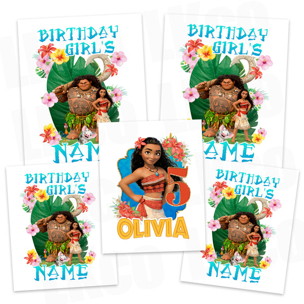 Moana Iron On Transfers Family Pack | Blue 03 - LuvibeeKidsCo