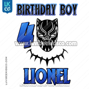 Black Panther Digital File [12-24hr email] for Birthdays and Events - Any Name and Age - Birthday Boy - LuvibeeKidsCo