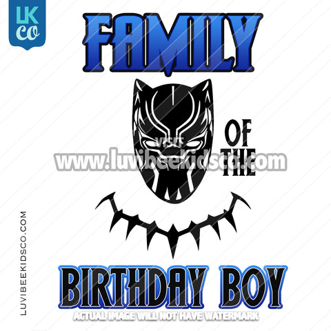 Black Panther Digital File [12-24hr email] for Birthdays and Events - Add Family Members - LuvibeeKidsCo