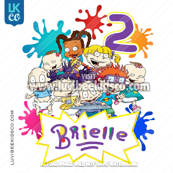 Rugrats Heat Transfer Design - Printed Transfer or Digital File - LuvibeeKidsCo