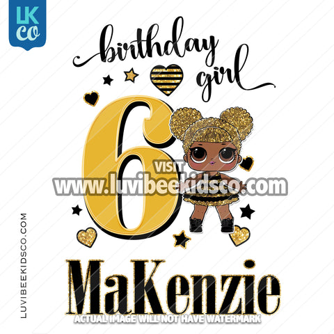 LOL Surprise Iron On Transfer Design | Birthday Girl - Queen Bee - LuvibeeKidsCo