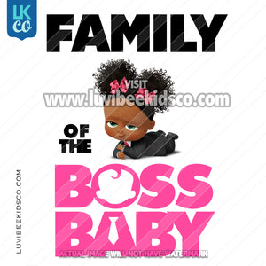 Boss Baby Iron On Transfer | Family of the Boss Baby - Baby Girl with Puffs