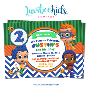 Bubble Guppies - Birthday Invitation - Boy's Style | 001 - LuvibeeKidsCo