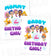Bubble Guppies Iron On Transfer | Mommy & Daddy of the Birthday Girl Set