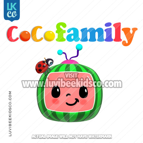 Cocomelon Inspired Heat Transfer Designs - Cocomelon TV - Add Family Members