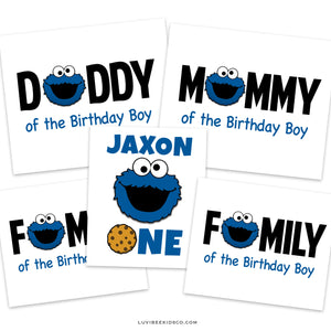 Sesame Street Iron On Transfers Family Pack | Cookie Monster