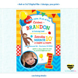 Curious George Invitation with Photo for Boy or Girl - Design 006 - LuvibeeKidsCo