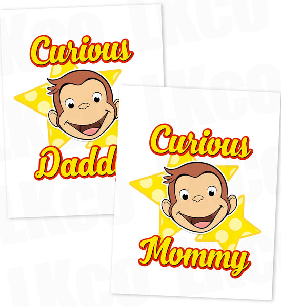 Curious George Iron On Transfer | Mommy & Daddy Set - LuvibeeKidsCo
