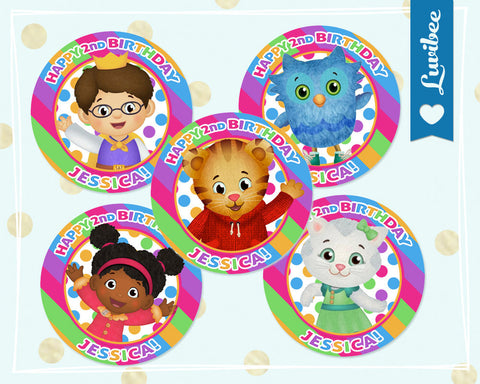 Daniel Tiger Cupcake Toppers - Stripes - For Girls - LuvibeeKidsCo