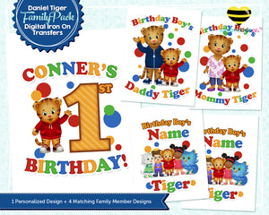 Daniel Tiger Iron On Transfers Family Pack | Primary Colors - LuvibeeKidsCo