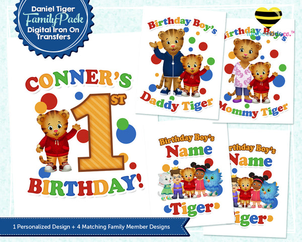 Daniel Tiger Iron On Transfer Family Pack | Primary Colors - Best Value! - LuvibeeKidsCo