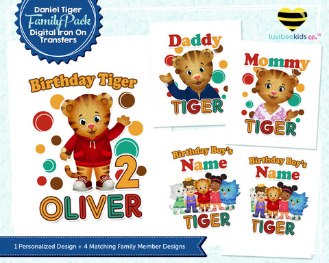Daniel Tiger Iron On Transfers Family Pack | Tri-Color - LuvibeeKidsCo