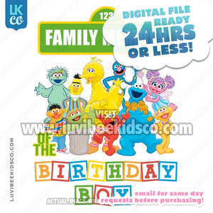 Sesame Street Birthday Iron On Transfer - Add A Family Member - Birthday Boy - LuvibeeKidsCo