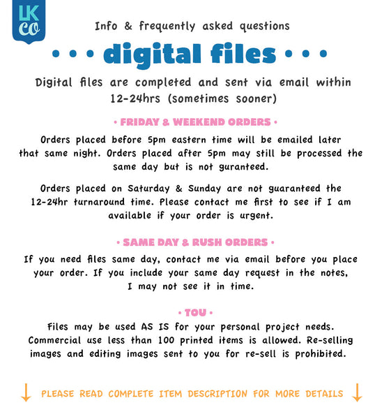 A Digital File [12-24hr email] for Birthdays and Events - Any Name and Age - LuvibeeKidsCo