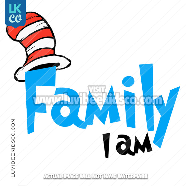 Dr Seuss Inspired Heat Transfer Designs - Add Family Members