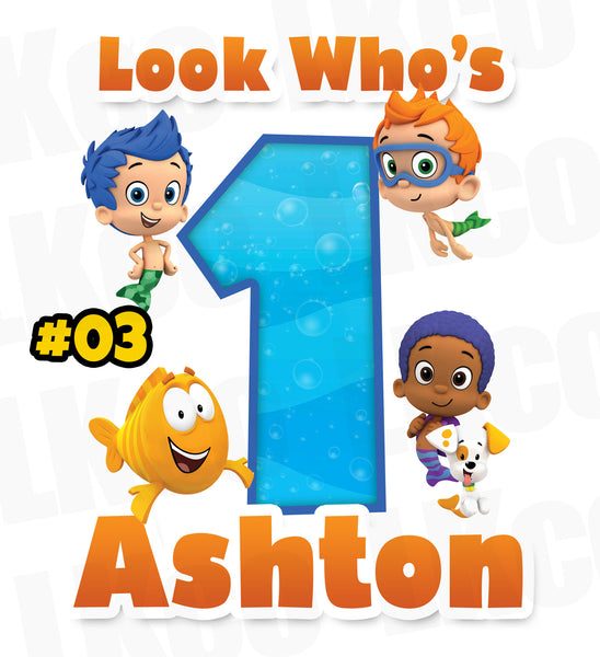 Bubble Guppies Iron On Transfer | Look Who's - LuvibeeKidsCo