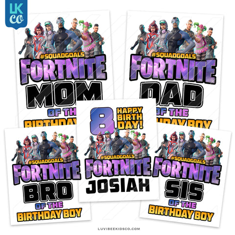 Fortnite Heat Transfer Designs - Family Pack - LuvibeeKidsCo