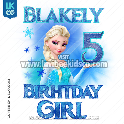 Frozen Iron On Transfer | Elsa - Birthday Girl