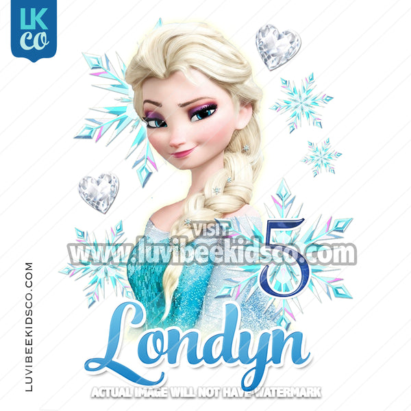 Frozen Iron On Transfer | Elsa - LuvibeeKidsCo