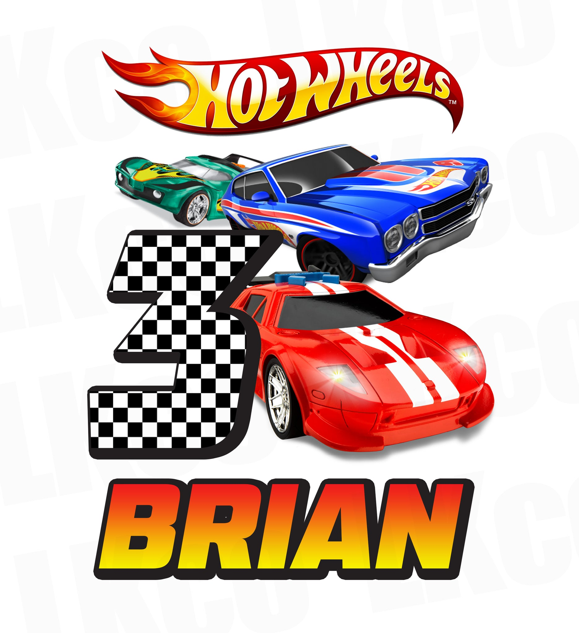 Hot Wheels Iron On Transfer | Birthday Boy - LuvibeeKidsCo