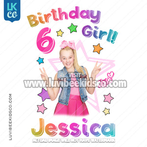 JoJo Siwa Inspired Heat Transfer Design - Birthday Girl - LuvibeeKidsCo