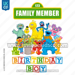 Sesame Street Birthday Iron On Transfer - Add A Family Member - Birthday Boy