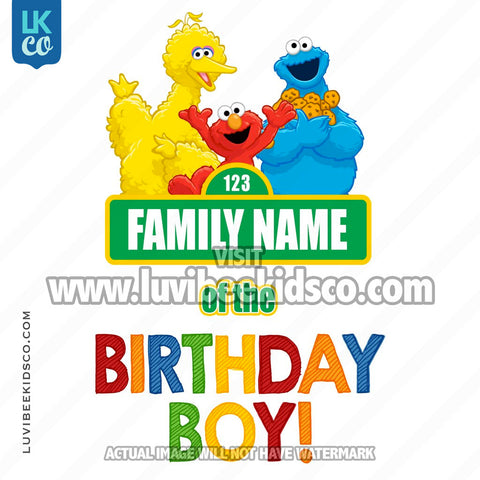 Sesame Street Birthday Iron On Transfer - Add A Family Member - Birthday Boy 02