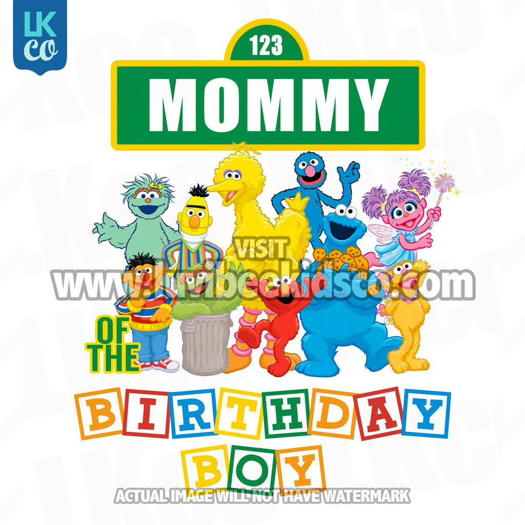 Sesame Street Birthday Iron On Transfer - Primary Colors - Mommy of Birthday Boy