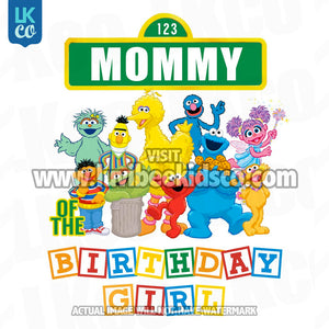 Sesame Street Birthday Iron On Transfer - Primary Colors - Mommy of Birthday Girl - LuvibeeKidsCo