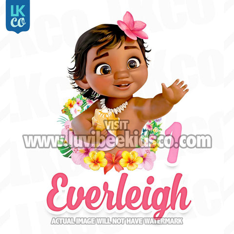 Baby Moana Iron On Transfer - LuvibeeKidsCo