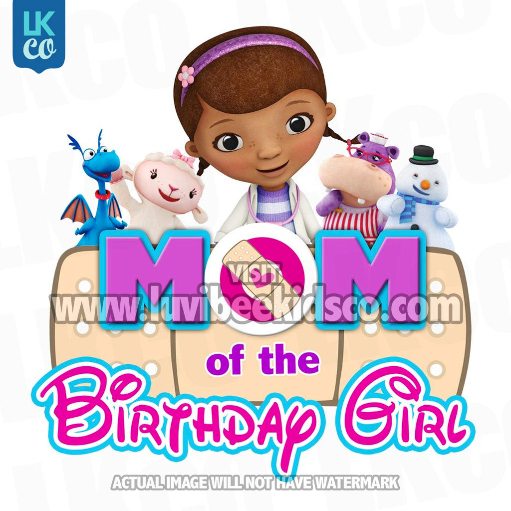 Doc McStuffins Iron On Transfer | Bandaid - Mom of the Birthday Girl - LuvibeeKidsCo