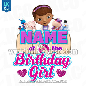 Doc McStuffins Iron On Transfer | Hearts - Add Any Family Member - LuvibeeKidsCo