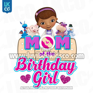 Doc McStuffins Iron On Transfer | Hearts - Mom of the Birthday Girl - LuvibeeKidsCo
