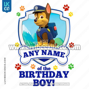 6eff0d2f94e Paw Patrol - Blue Chase Family Member of the Birthday Boy - LuvibeeKidsCo
